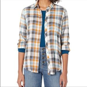 Lucky Brand Classic One Pocket Plaid Flannel Shirt